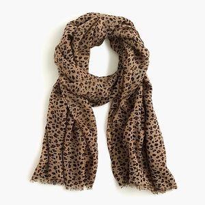 nwt jcrew wool scarf in leopard ab955